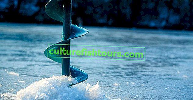 Bezpečná tloušťka ledu pro rybolov