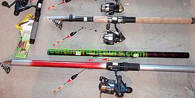 Letní rybářské pruty