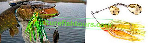 Spinnerbait üzerinde turna balıkçılığı